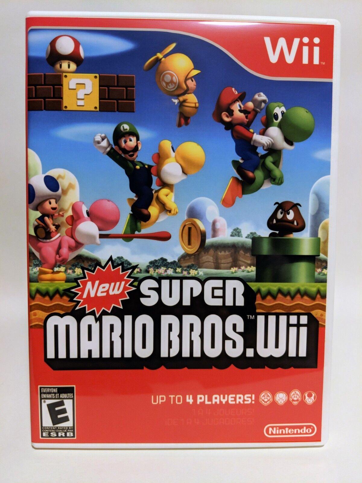 New Super Mario Bros. -Wii- Nintendo Replacement CASE *NO GAME*
