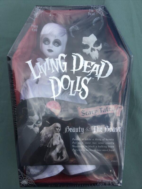 2017 Mezco Living Dead Dolls BEAUTY & THE BEAST Scary Tales NRFB 2 Doll Set LDD