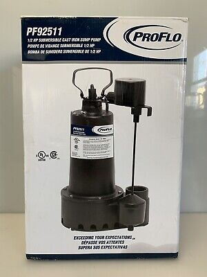 Proflo Pf92511 - 12 Hp Cast Iron Submersible Sump Pump W Vertical Float Switch