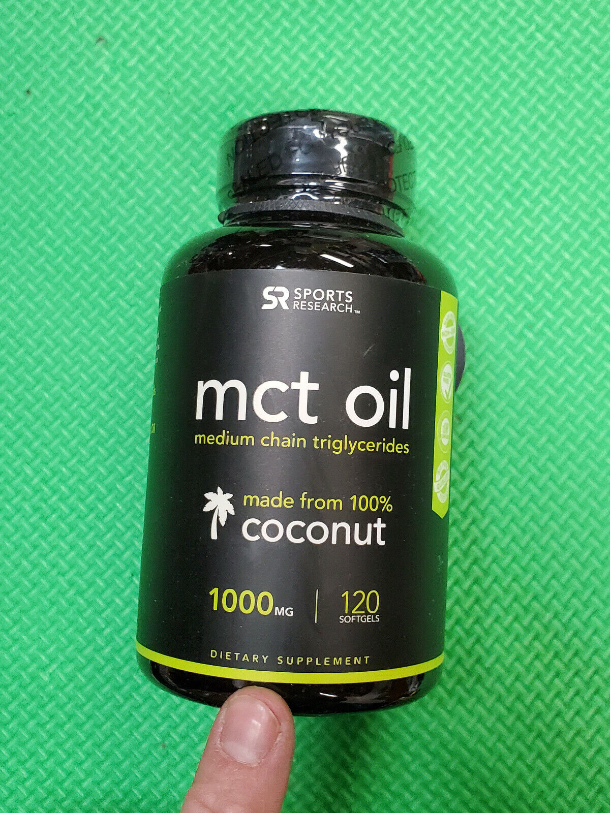 Sports Research MCT Oil 1000 mg 120 Softgels exp-6/2021