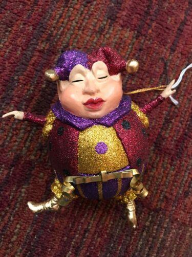 Katherine's Collection Mardi Gras jester ornament