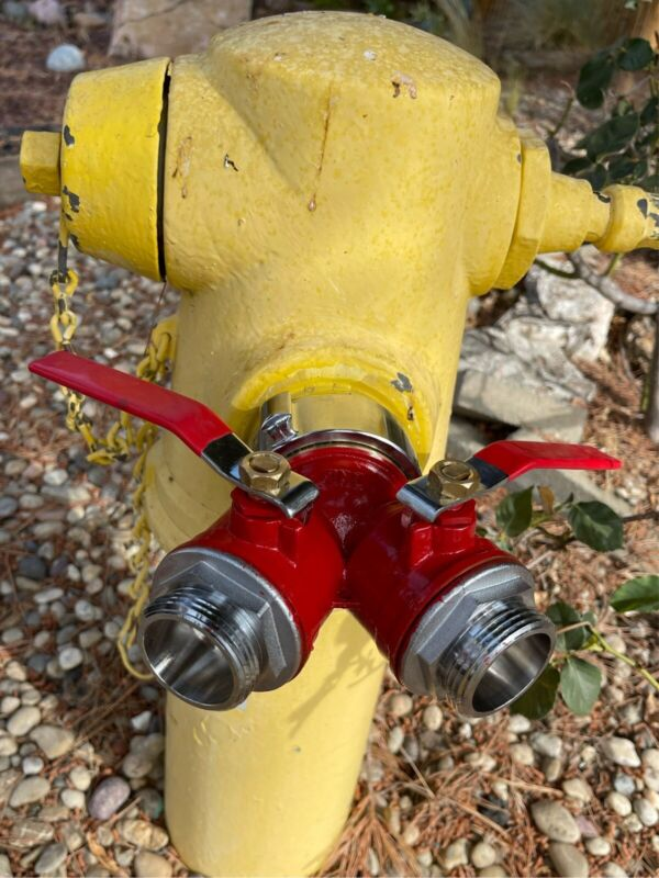 """Gated Wye Valve For Fire Hydrant For 1 1/2 """" Fire Hose. ACE Fire Hose Connector"""