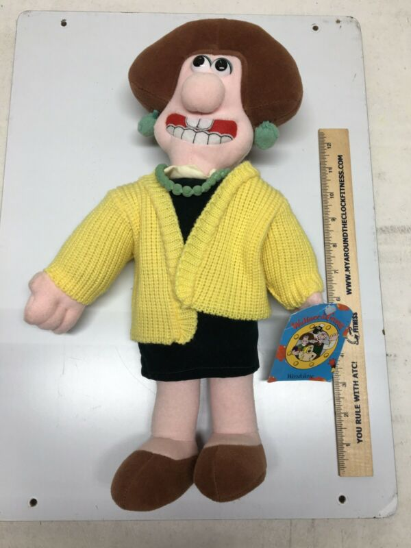 Vtg 1989 Born To Play Wendolene Aardman Plush Wallace and Gromit