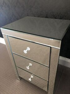 Mirror bedside table