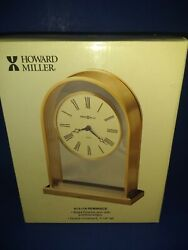 Howard Miller Reminisce Brass and Glass Table/Mantle Clock
