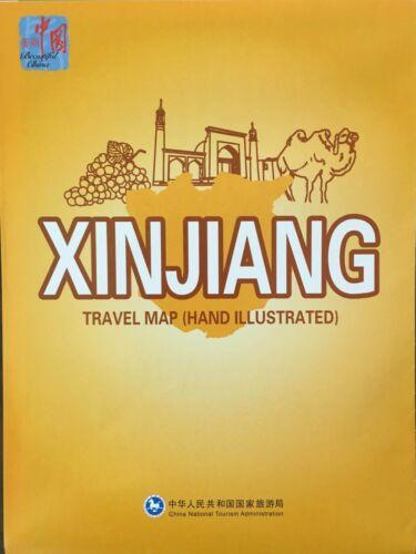 NEW XINJIANG TRAVEL MAP, China Tourism ~Highlights of Notable Areas, Main Sights