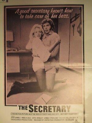The Secretary, Movie Press Kit, 1971 sexploitation film, Angela Gale Josh Gamble
