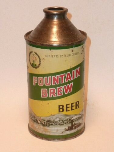 12oz Fountain Brew Cone Top - Fountain Brewing Co. Fountain City, Wi.