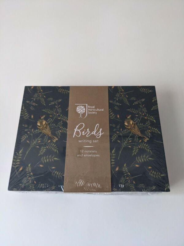 Birds Writing Set Cards Royal Horticultural Society 12 Notelets & Envelopes
