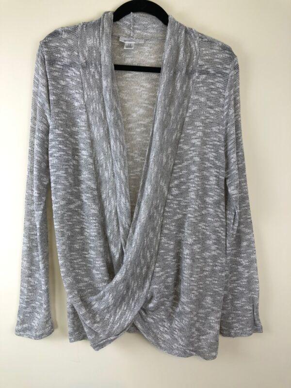 Motherhood Maternity Nursing Sweater Gray Lightweight Long Sleeved Medium