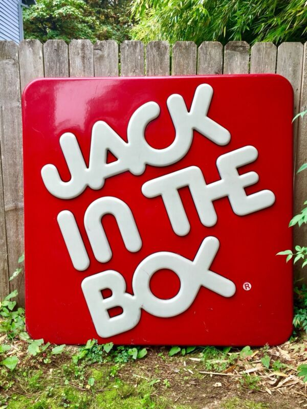 Vintage Jack In The Box Sign - Large