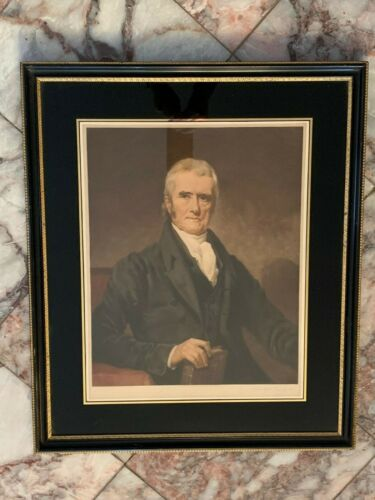 Supreme Court Chief Justice John Marshall by T. Hamilton Crawford 13 X 17 Litho