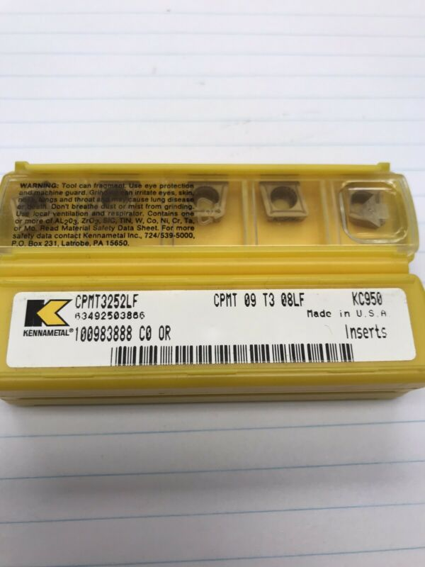 5 Pcs. CPMT32.52LF KC950 KENNAMETAL INSERT (loc O1)