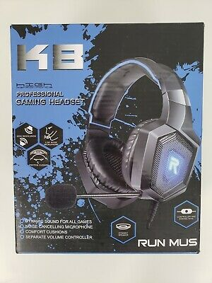 Run Mus K8 Professional Gaming Headset High Performance- New