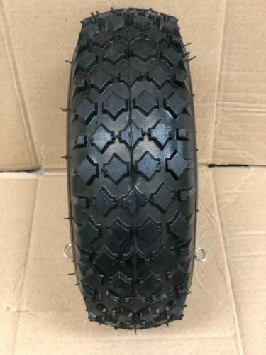 New - 4.10/3.50-4 4PR Wheelbarrow Tire/Wheel Assy W/ Bushings Stud Tread CT1010