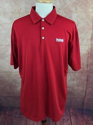 Nike Golf Dri Fit Peabody Energy Golf Polo Short Sleeve Red Shirt Mens Xl