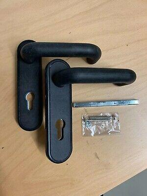 Feuerschutzgarnitur 72mm PZ-gelocht Drücker Drücker Stift 9mm