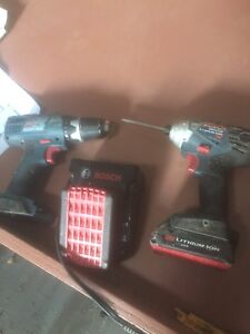 Bosch impact and drill and charger
