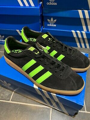 Adidas OG Bermuda UK 10 Eu 45 BB5271 Black + Slime & Gum CW New Deadstock Island
