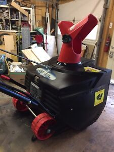 """Like new! Electric snowblower 18"""" wide"""