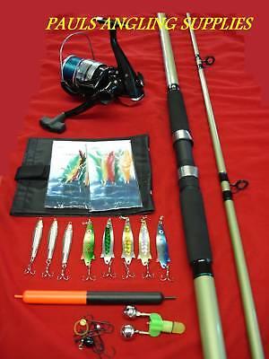 Sea Fishing Beach / Pier / Rock Kit Rod Reel + Tackle