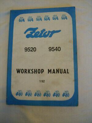 @Zetor Tractor 9520 9540 Workshop Manual @, używany na sprzedaż  Wysyłka do Poland
