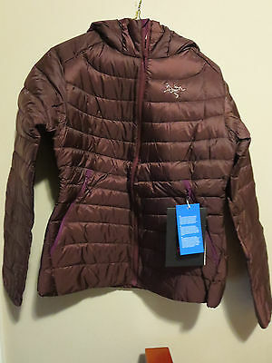 Womens New Arcteryx Cerium LT Hoody Jacket Size Medium Color Cherry Chocolate