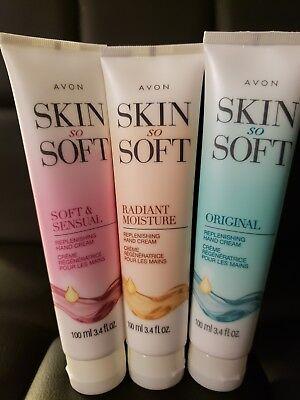 Avon Skin So Soft Hand Cream-(Radiant Moisture- Original- Soft&Sensual)