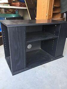 Black Tv and stereo unit