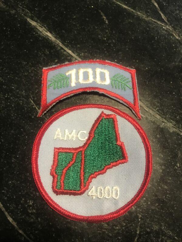 "Appalachian Mountain Club 4000 AMC PATCH travel Vtg Rare 3"" 70s 80s NH Hat"