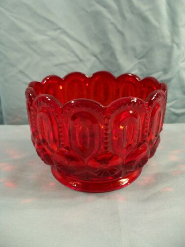 L.G. Wright Ruby Red Glass Moon & Stars Finger Bowl
