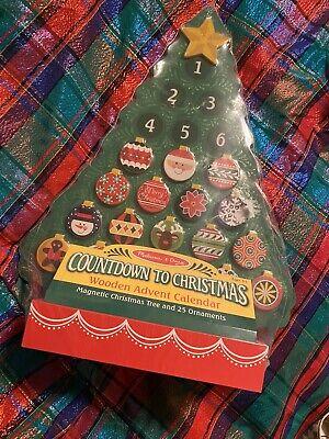 New MELISSA AND DOUG Christmas Tree ADVENT CALENDAR Countdown To Christmas