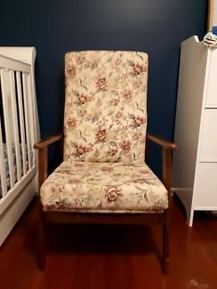 Reclining mid century armchair