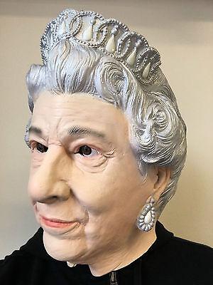 ngland Maske Voller Kopf Englisch Königsfamilie Kostüm (Queen Elizabeth Kostüme)