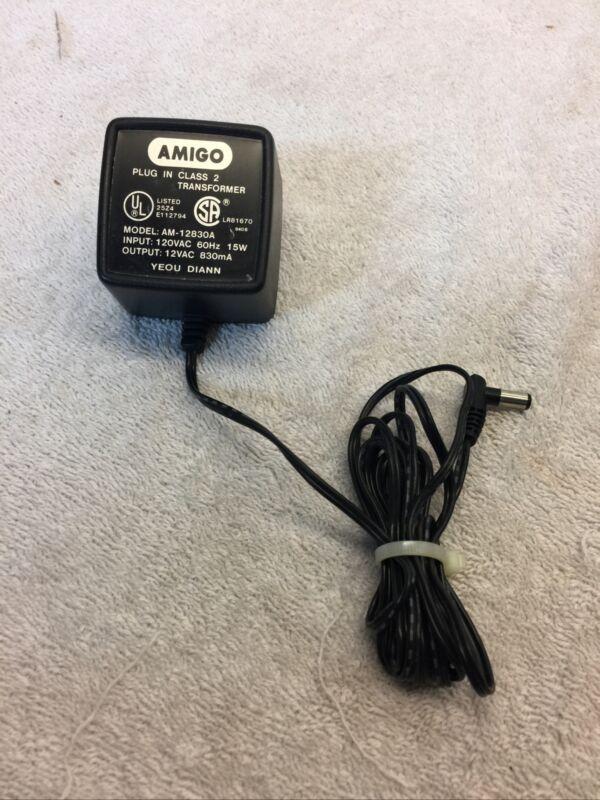 Amigo AM-12830A 12VAC 830mA Plug in Class 2 Transformer Power Supply (2378)
