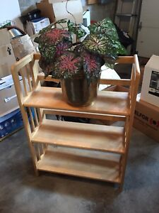 Maple plant stand (3 shelves)