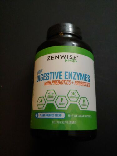 Zenwise Health Daily Digestive Enzymes With Prebiotics and P