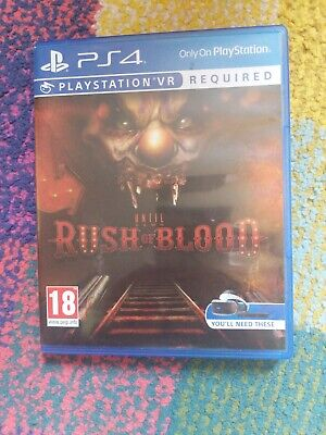 Until Dawn Rush of Blood Playstation 4 PS4 VR Required PAL
