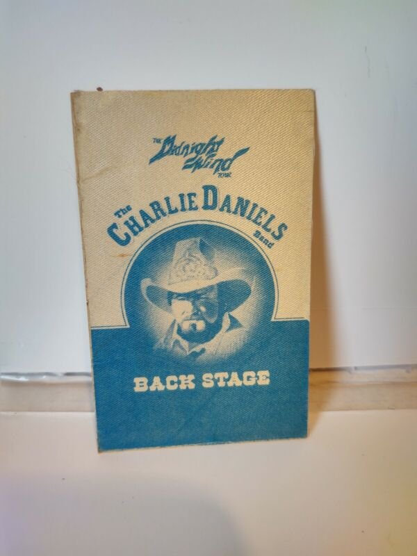 Vintage 1977 The Charlie Daniels Band The Midnight Wind Tour Unused Backstage...