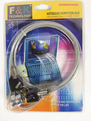 F & K Technology Notebook Computer Cable  Key Lock Brand New! for sale  Shipping to India