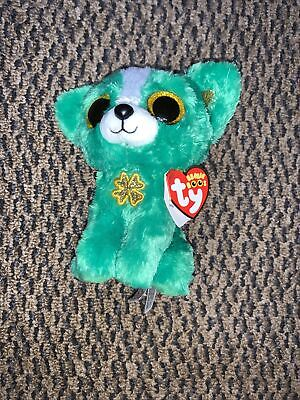 TY Beanie Boos St. Patrick's Day Dog EMERALD