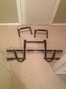 P90X chin up bar plus two push-up stands