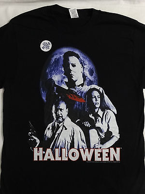 Michael Myers Halloween Horror Movie Dr. Loomis Laurie T-Shirt](Halloween Movie Dr Loomis)