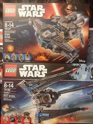STAR WARS LEGO LOT SEALED 75185 TRACKER 1 I 75147 STARSCAVENGER STAR SCAVENGER