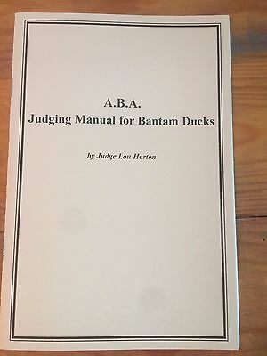 Aba Judging Manual For Bantam Ducks