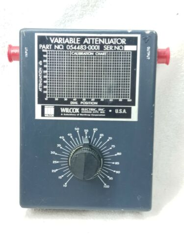 WILCOX Variable Attenuator  1-10 DB  10 -100 DIAL POSITION