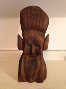 "Large 17"" Hand Carved Aboriginal ""Fire Person"" Sculpture"