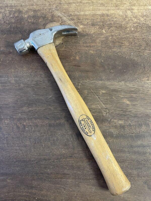 VINTAGE BOB HART THE FRAMER FORGED USA Framing Hammer Hickory Handle