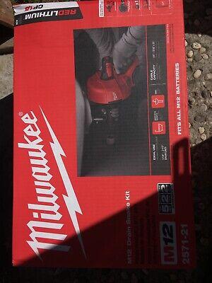Milwaukee M12 25ft Cordless Electric Drain Snake Kit- 0ah Battery 2571-21d120