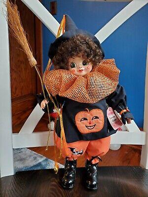 Vintage Brinn's October Calendar Clown Halloween Collectible Doll 1986